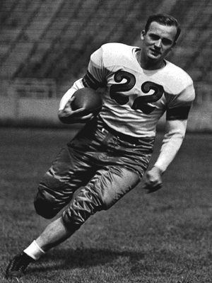 Horvath excelled, even though Ohio Stadium's field was built on a 45-degree angle