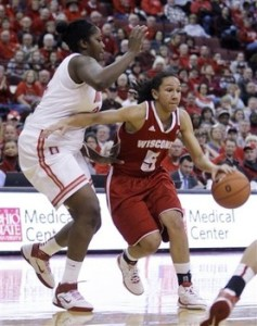 Wisconsin's Morgan Paige gave Ohio State nightmares in their loss to the Badgers.