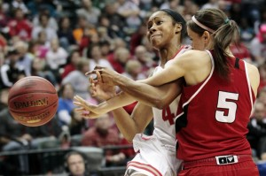 Tayler Hill scored in double figures for the 54th straight game but that wasn't enough to overcome Nebraska.