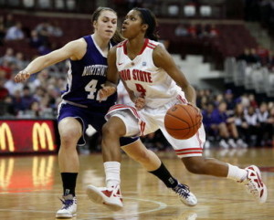 Tayler Hill's game high 26 points and 6 steals led the Buckeyes to victory at Northwestern.