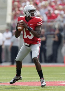 Kenny Guiton stood tall today replacing Braxton Miller after his injury in the first drive.