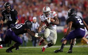 Carlos Hyde ran over, around and through the Wildcat defense.