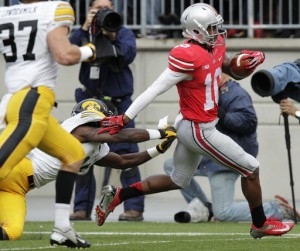 "Corey ""Philly"" Brown took a 58 yard pass into the endzone for the Buckeyes first Touchdown."