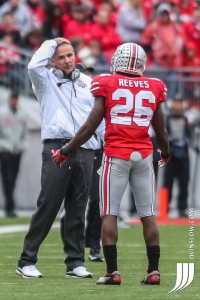 This was after running into kicker penalty, but Coach Meyer had same look after Reeves was beat . . , by a TE