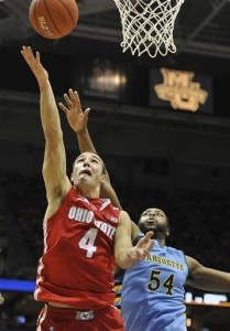 Aaron Craft surpassed 1000 points for his career today.
