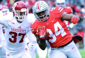 Carlos Hyde in final performance at Ohio Stadium