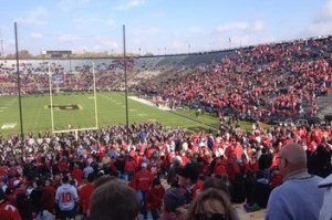 All that remained were Buckeye faithful at Ross-Ade
